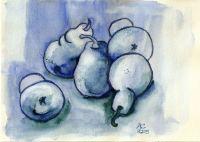 Blaue Birnen