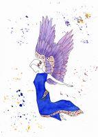 Engelfrau bunt