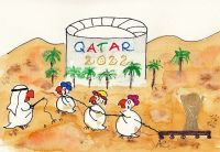 Baustelle Qatar